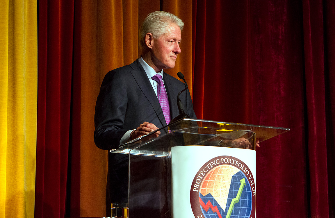 Branding photography with President Bill Clinton
