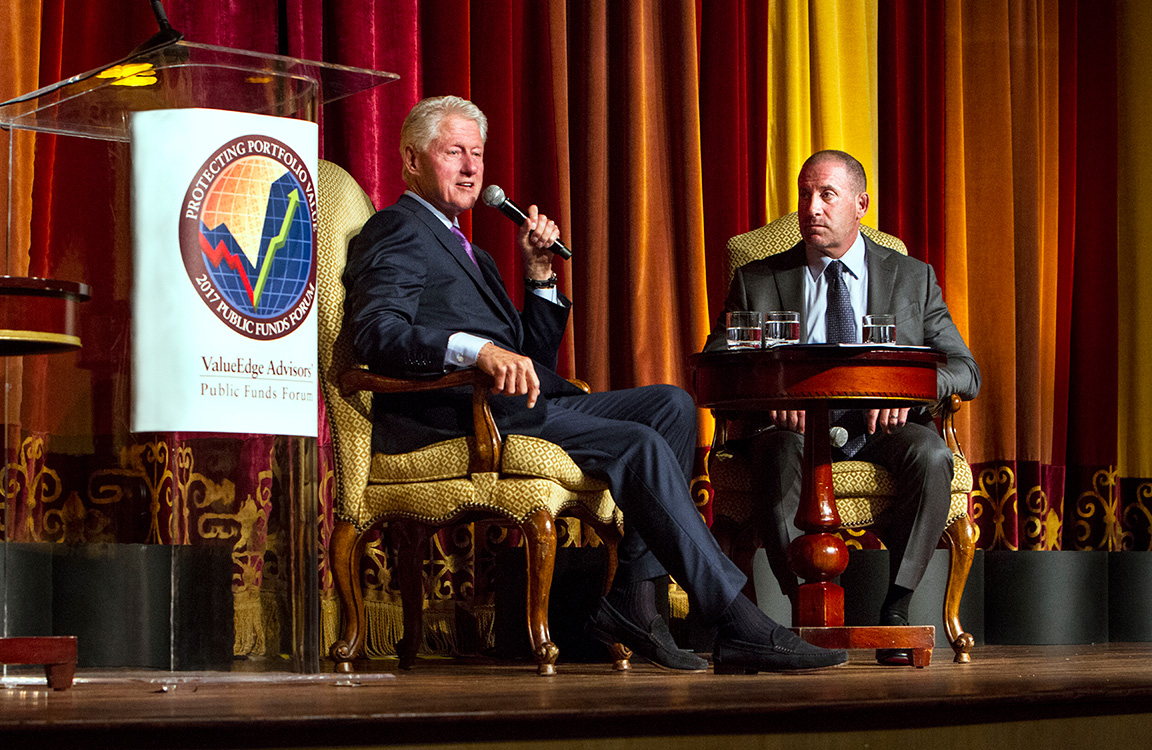 Commercial photography with President Bill Clinton